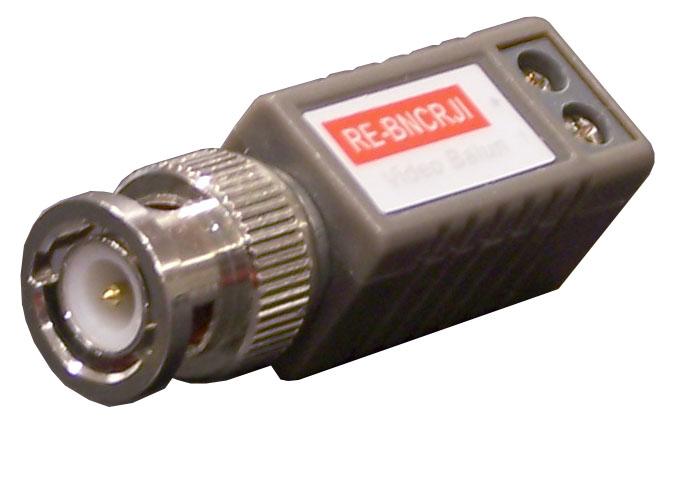 Convertitori balun video su cavo twistato CAT5 UTP - Trasmettitori RJ45 video doppino - Balun ...